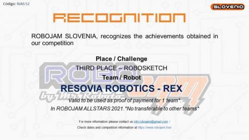 Resovia robotics REX 3 miejsce