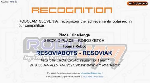Resoviabots Resoviak 2 miejsce